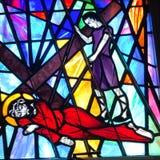 Иисус падает для первого стоковая фотография rf