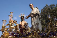 Иисус перед Pilate, святой неделей в Севилье, братство Сан Benito Стоковая Фотография