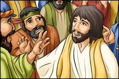 Иисус появляется к ученикам стоковое изображение rf