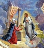 Иисус появляется к Mary стоковое фото
