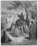Иисус проповедует к людям Стоковое Фото
