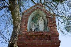 Иисус сын Святыня культа Мэриан обочины в Warmia, Польше стоковое фото