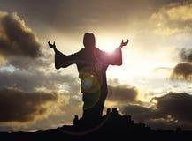 Иисус с рукоятками подняло 1 Стоковые Изображения RF