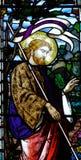 Иисус Христос в цветном стекле Стоковое Фото
