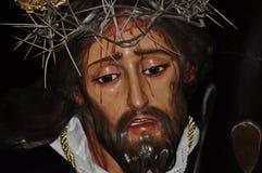 Иисус Христос изображения Назарета в святой неделе Стоковая Фотография RF