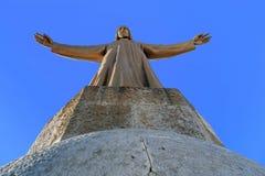 Иисус Христос над Барселоной Стоковые Изображения