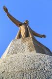 Иисус Христос над Барселоной Стоковые Фото