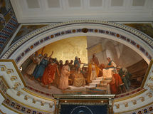 Иисус Христос фрески Стоковое Изображение