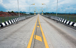 3-ий мост приятельства Тайск-Lao, Таиланд Стоковое Изображение