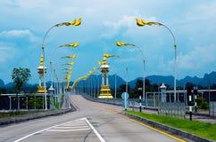 3-ий мост приятельства Тайск-Lao Стоковые Фото