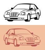 икона автомобиля ввела вектор в моду Стоковое Фото