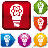 Икона атомной энергии Стоковая Фотография RF