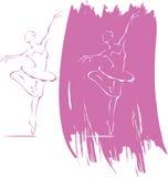 икона балета Стоковая Фотография RF