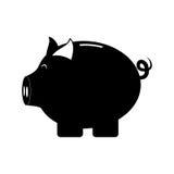 икона банка piggy стоковая фотография rf