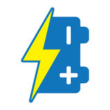 икона батареи Стоковое Фото