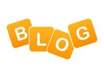 икона блога Стоковое Фото