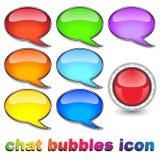 икона бормотушк пузырей Стоковое Фото