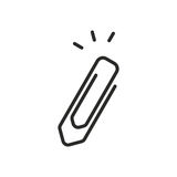 Икона бумажного зажима Стоковая Фотография