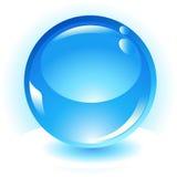 Икона вектора сферы Aqua голубая Стоковая Фотография