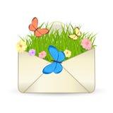Икона вектора электронной почты лета Стоковая Фотография