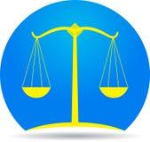 Икона весов правосудия Стоковая Фотография