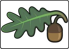 Икона в форме листьев и жолудя дуба Стоковые Изображения RF