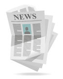 Икона газеты Стоковые Изображения RF