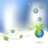 икона глобуса окружающей среды предпосылки Стоковое фото RF