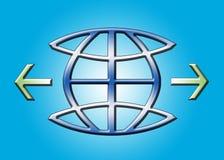 икона глобуса Стоковая Фотография