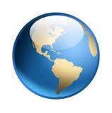 икона глобуса Стоковая Фотография RF