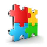 икона головоломки 3d иллюстрация вектора