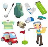 икона гольфа оборудования шаржа Стоковое Изображение RF