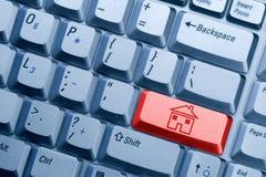 икона дома кнопки Стоковая Фотография RF