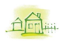 икона дома свободной руки чертежа Стоковое Фото