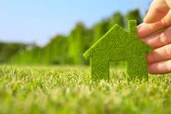 икона дома удерживания руки eco Стоковое Фото