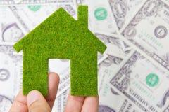 икона дома удерживания руки eco Стоковые Фото