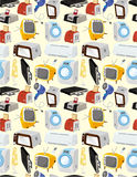 икона дома шаржа приборов Стоковые Изображения