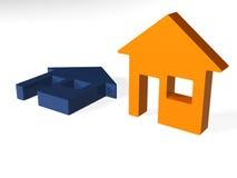 икона дома Стоковое Изображение RF