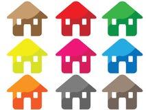 икона дома Стоковое Изображение