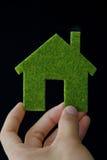 икона дома eco стоковая фотография rf