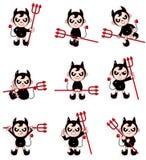 икона дьявола шаржа Стоковое Изображение