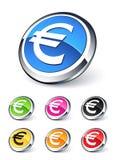 икона евро иллюстрация штока