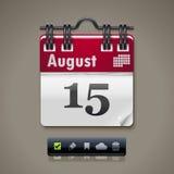 Икона календара XXL вектора Стоковое Изображение
