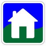 Икона/кнопка вектора дома Стоковые Фотографии RF