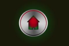 икона кнопки домашняя Стоковые Фото