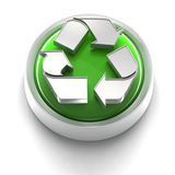 икона кнопки рециркулирует Стоковое Изображение