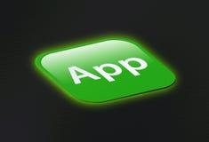 икона кнопки app Стоковое Фото