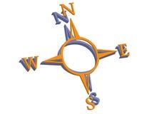 икона компаса Стоковая Фотография RF