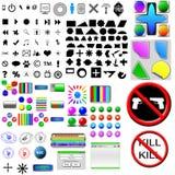 Икона компьютера, кнопки Стоковое Изображение