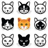 икона конструкции кота шаржа minimalistic Стоковая Фотография